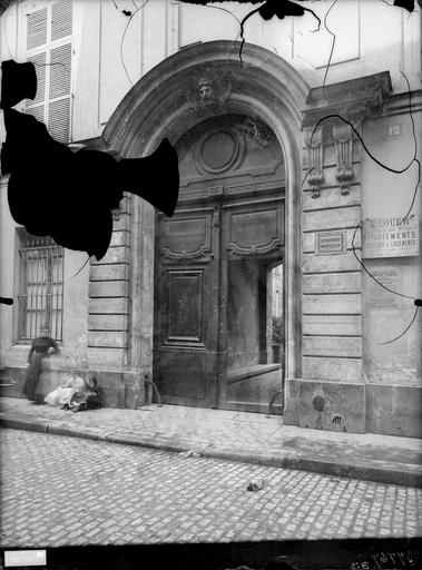 Hôtel d'Aubray Portail, Atget, Eugène (photographe),