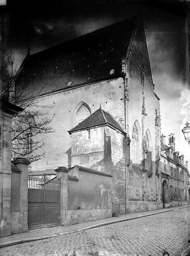 Hôtel-Dieu (ancien) Façade sur rue, Durand, Jean-Eugène (photographe),
