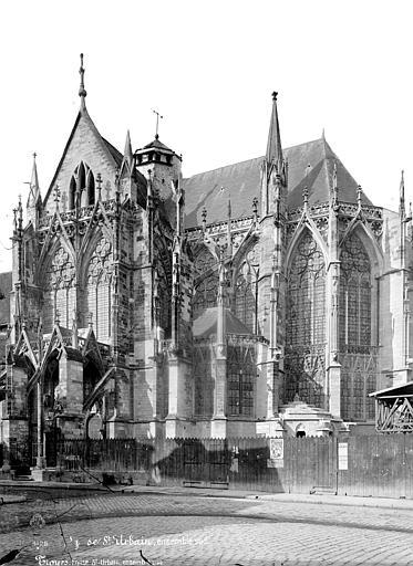 Eglise Saint-Urbain Angle sud-est : Transept et abside, Lancelot, Gustave,