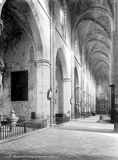 Eglise Vue intérieure du bas-côté nord, vers l'est, Durand, Jean-Eugène (photographe),