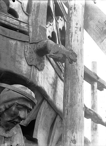 Cathédrale Notre-Dame Clocher à l'ange, gargouille, Lajoie, Abel,
