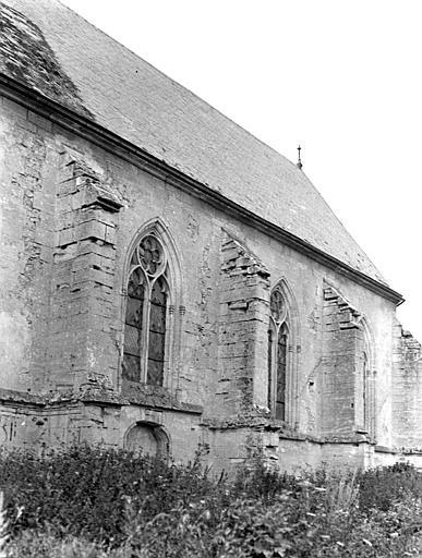 Eglise Contreforts et fenêtre, Chaine, Henri (architecte),