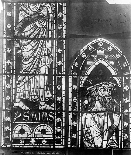 Cathédrale Saint-Etienne Vitrail : Isaïe, Leprévost (photographe),