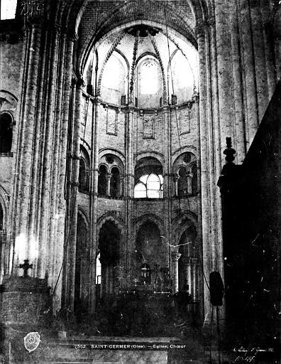 Eglise abbatiale Vue intérieure du choeur, Le Secq, Henri (photographe),