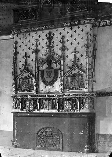Archevêché (ancien) ; Palais du Tau Salle du Conseil : cheminée, Mieusement, Médéric (photographe),