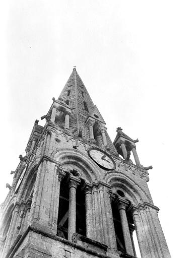 Eglise Clocher : partie haute, Chaine, Henri (architecte),