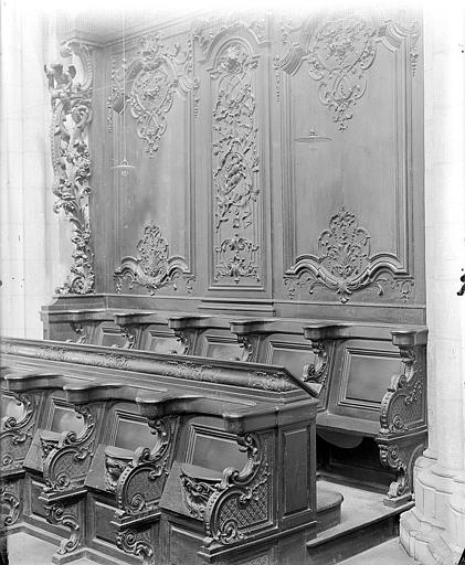 Cathédrale Saint-Bénigne Stalles du choeur, Gossin (photographe),