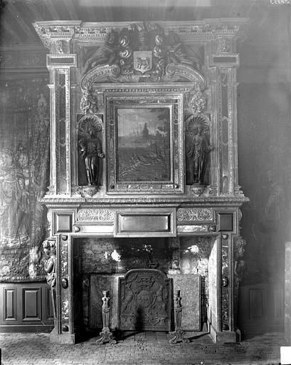 Hôtel de Vogüé Salle des Gardes : Cheminée, Delaunay (photographe),