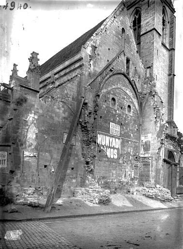 Eglise Saint-Gilles Façade est, Durand, Jean-Eugène (photographe),