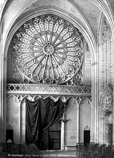 Chapelle de la Vierge dite Sainte-Chapelle Rosace, pignon, Mieusement, Médéric (photographe),