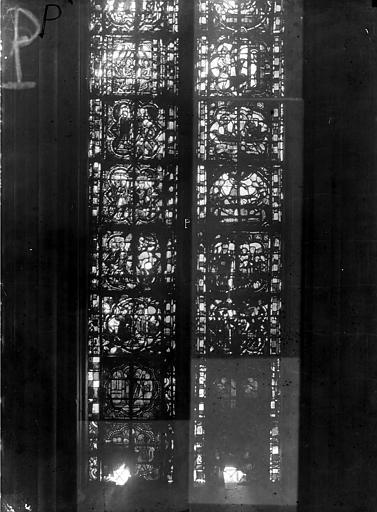 Cathédrale Notre-Dame Chapelles du choeur, vitrail P', Gaudin,
