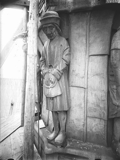 Cathédrale Notre-Dame Clocher à l'Ange, cariatide, Lajoie, Abel,