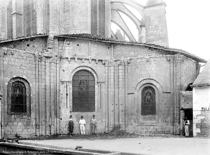 Eglise Saint-Jean de Montierneuf Abside, côté nord, Durand, Jean-Eugène (photographe),