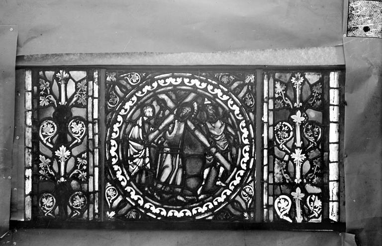 Eglise Saint-Gengoult Vitrail de l'abside, lancette de droite, panneau 25, Romanais (photographe),