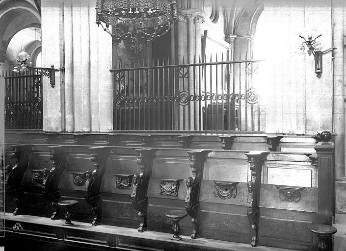 Eglise de Saint-Etienne-le-Vieux (ancienne) Stalles du choeur, Durand, Jean-Eugène (photographe),