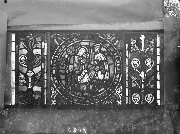 Eglise Saint-Gengoult Vitrail de l'abside, lancette de droite, panneau 19, Romanais (photographe),
