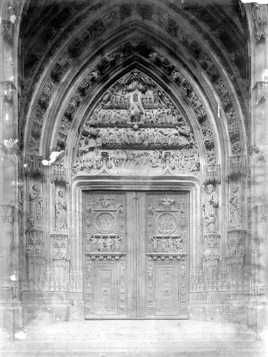 Eglise Saint-Maclou Portail ouest, Enlart, Camille (historien),