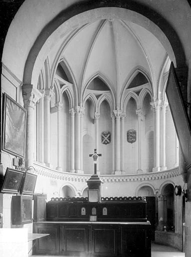Abbaye aux Hommes (ancienne) ; Eglise abbatiale Saint-Etienne Vue intérieure de la sacristie, Heuzé, Henri (photographe),