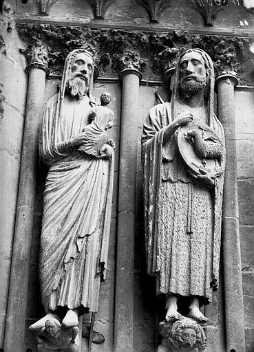 Cathédrale Notre-Dame Portail ouest, saint Jean-Baptiste, saint, Lajoie, Abel,