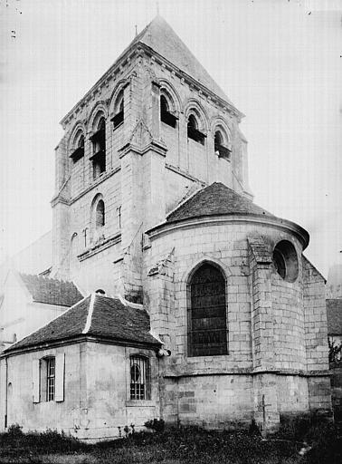 Eglise Abside et clocher, Enlart, Camille (historien),
