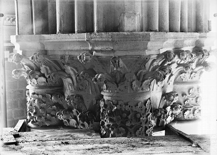 Cathédrale Notre-Dame Chapiteau du premier pilier de la chapelle absidiale, à droite, Lajoie, Abel,