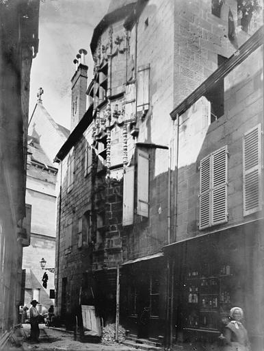 Collégiale Saint-Martin Façades sur rue, Enlart, Camille (historien),
