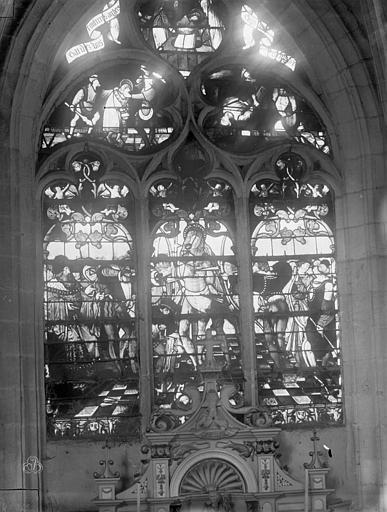 Eglise Saint-Nizier Vitraux, fenêtre H, Lancelot, Gustave,