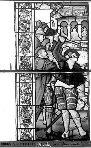 Eglise Saint-Patrice Vitrail, fenêtre gauche, quatrième panneau, Heuzé, Henri (photographe),
