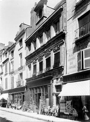 Hôtel Pélisson (ancien) Façade sur rue, en perspective, Durand, Jean-Eugène (photographe),