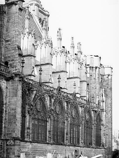 Basilique Saint-Denis Façade nord, Durand, Eugène (photographe),