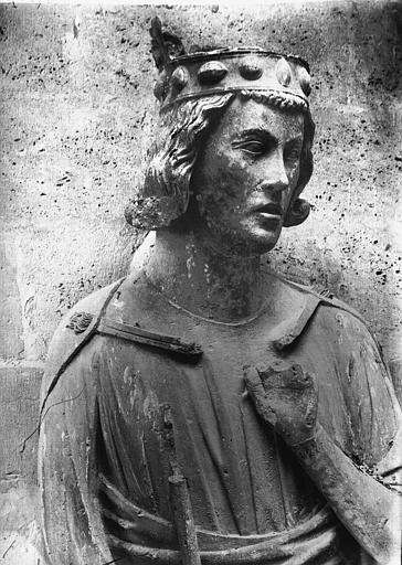 Cathédrale Notre-Dame Buste de la statue de roi dite de saint Louis, Lajoie, Abel,