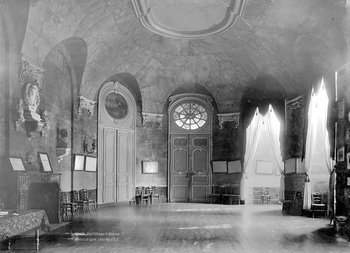 Abbaye aux Hommes (ancienne) Vue intérieure : Parloirs, Durand, Jean-Eugène (photographe),
