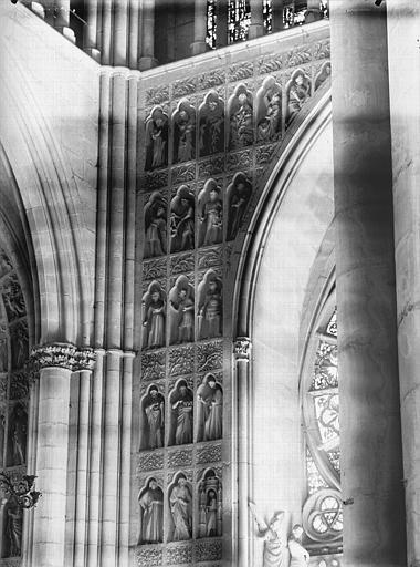 Cathédrale Notre-Dame Portail ouest, revers, niches et statues, Lajoie, Abel,