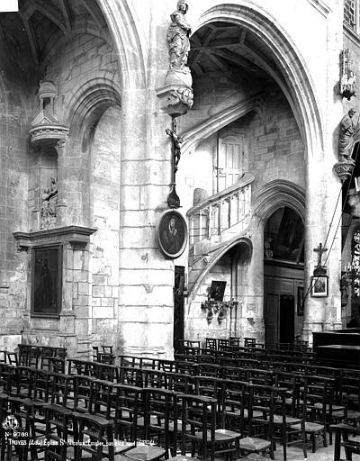 Eglise Saint-Nicolas Escalier, bas-côté nord, Robert, Paul (photographe),