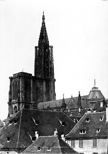Cathédrale Notre-Dame Ensemble sud-est : Flèche et toitures, Le Secq, Henri (photographe),