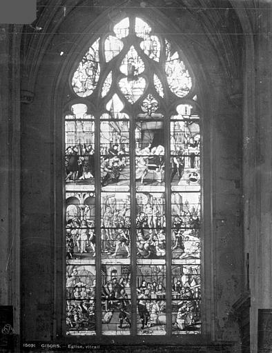 Eglise Saint-Gervais-Saint-Protais Vitrail suisse, Leprévost (photographe),