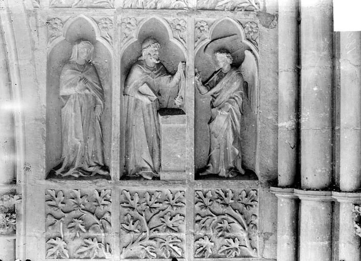 Cathédrale Revers du grand portail de la façade ouest, côté droit, cinquième registre, Sainsaulieu, Max (photographe),