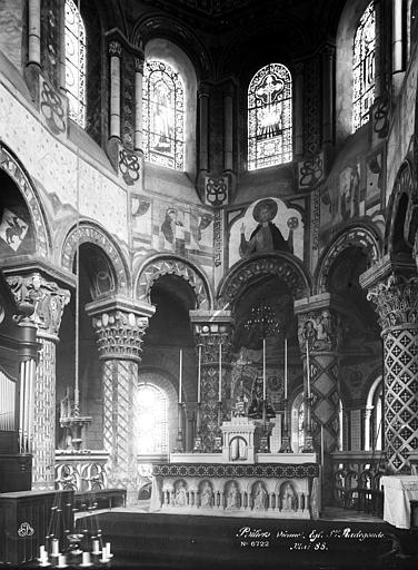 Eglise Sainte-Radegonde Choeur, Durand, Eugène (photographe),