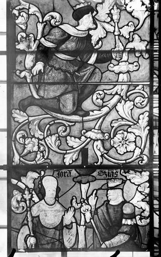 Eglise Vitraux, panneaux 10, 13, 14 de la baie E, Nadeau, H. (photographe),