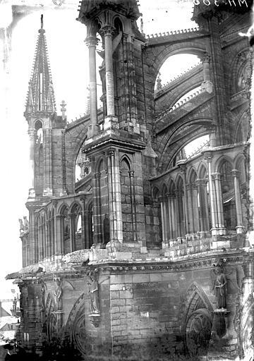 Cathédrale Notre-Dame Arcs-boutants du choeur, Lajoie, Abel,