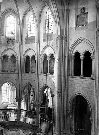 Abbaye Saint-Nicolas (ancienne) Glise, travées de la nef, Durand, Eugène (photographe),