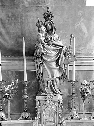 Eglise Saint-Hippolyte Autel, la Vierge à l'Enfant, Gossin (photographe),