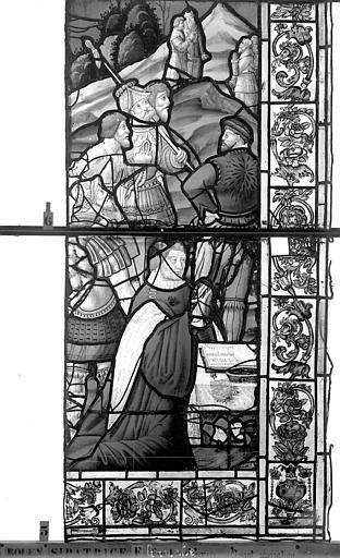 Eglise Saint-Patrice Vitrail, fenêtre gauche, onzième panneau, Heuzé, Henri (photographe),