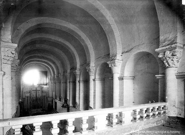 Abbaye du Ronceray (ancienne) Eglise, nef vue de la tribune, Mieusement, Médéric (photographe),