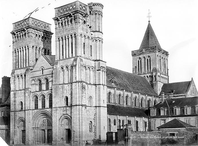 Abbaye aux Dames (ancienne), Eglise Sainte-Trinité Ensemble sud-ouest, Mieusement, Médéric (photographe),