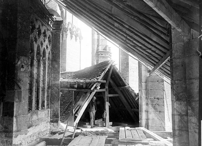 Cathédrale Travaux de restauration, Chaine, Henri (architecte),
