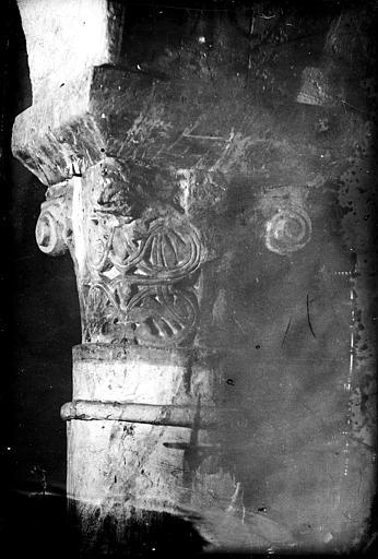 Cathédrale Notre-Dame Crypte , chapiteau : entrelacs et crosses, Mieusement, Médéric (photographe),