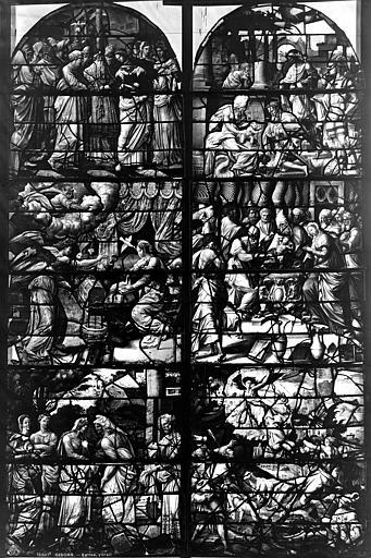 Eglise Saint-Gervais-Saint-Protais Vitrail, fenêtre ensemble, Leprévost (photographe),