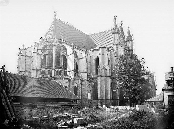 Basilique Saint-Denis Ensemble nord-est, Durand, Eugène (photographe),