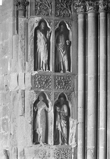 Cathédrale Notre-Dame Revers du portail sud de la façade ouest : Statues, côté nord, 3e et 4e registres, Sainsaulieu, Max (photographe),